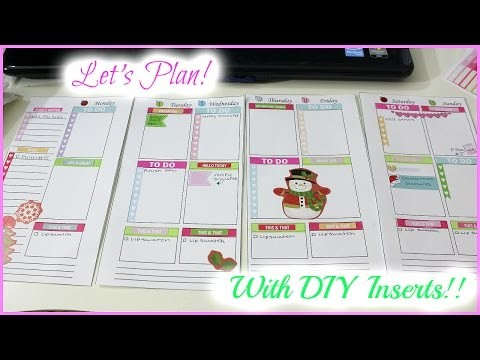 Let's Plan!!  With DIY Inserts!!  Personal Sized Planner. Filofax, Kikki K, Color Crush Planner.