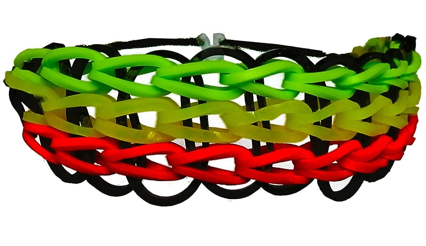 Loom Bands Armband deutsch - Star bracelet rubber bands tutorial