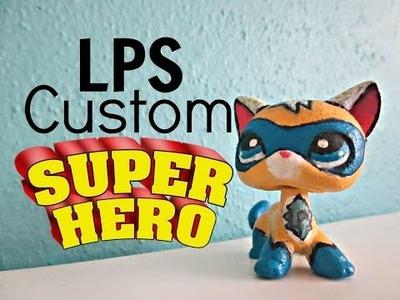 LPS Custom: DIY: Superhero Cat (Comicon Exclusive)