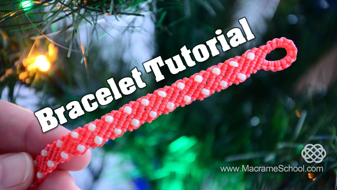 Macramé Stripes with Candies - Easy Bracelet Tutorial