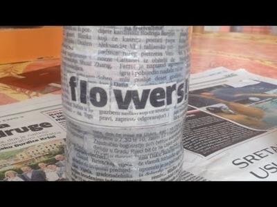 Make a Fun Newspaper-Designed Jar - DIY Home - Guidecentral