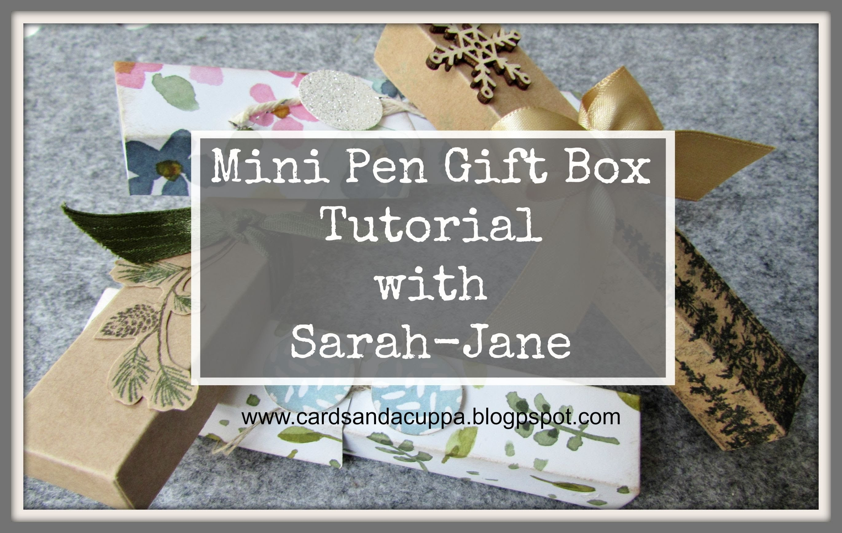 Mini Pen Holder Tutorial using Stampin' Up! Supplies