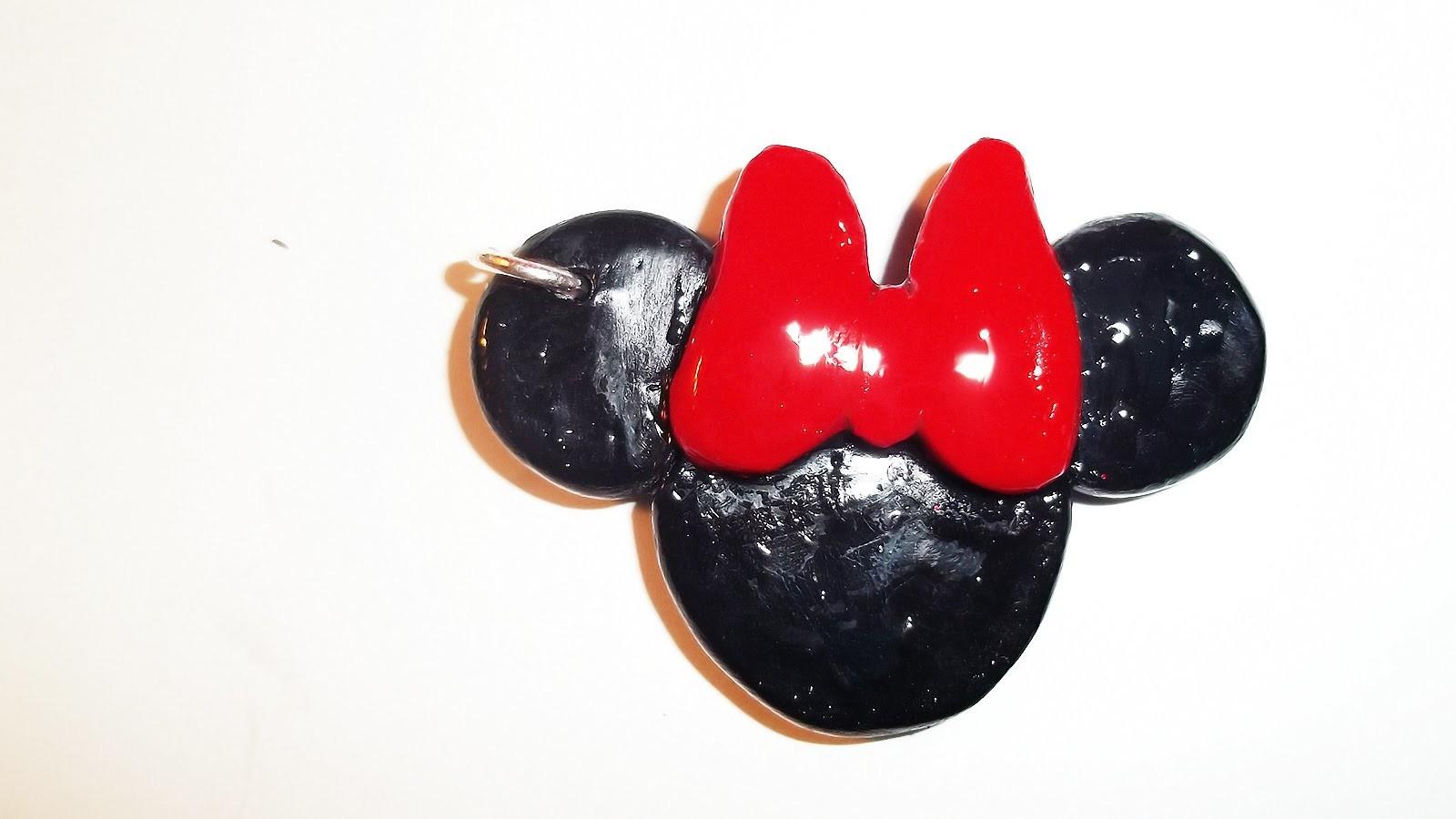 Minnie.Mickey Mouse Silhouette Key Chain.Charm ~ Clay Tutorial