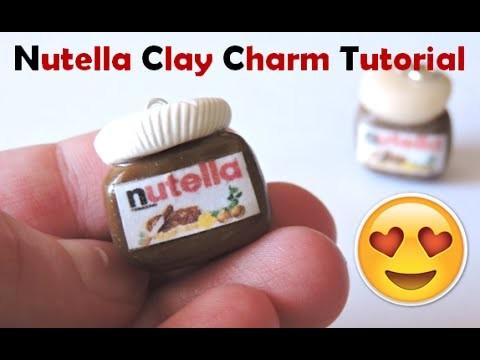Nutella Jar Clay Charm Tutorial