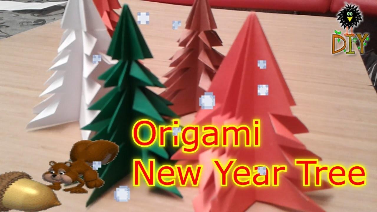 Origami New Year Tree - Easy Origami Christmas Tree Tutorial