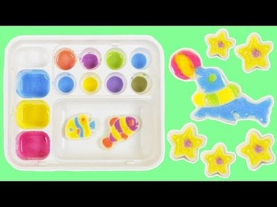 Popin Cookin Oekaki Kyan Land DIY Color Drawing Japanese Candy Making Kit!
