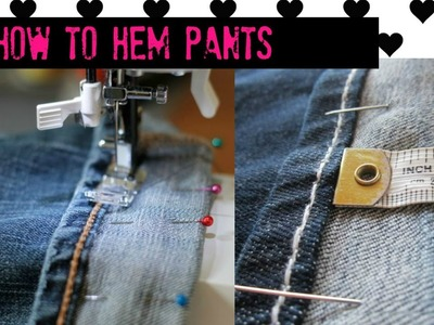 Simple way to Shorten and Lengthen Jeans - 2 minute Tutorial