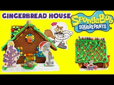 ★SpongeBob Squarepants GINGERBREAD HOUSE Kit★ DIY Spongebob Cookies United Candy House Kit Videos