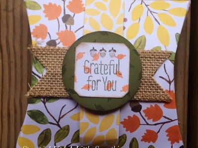 Stampin' Up! Fall Themed Square Pillow Box Video Tutorial