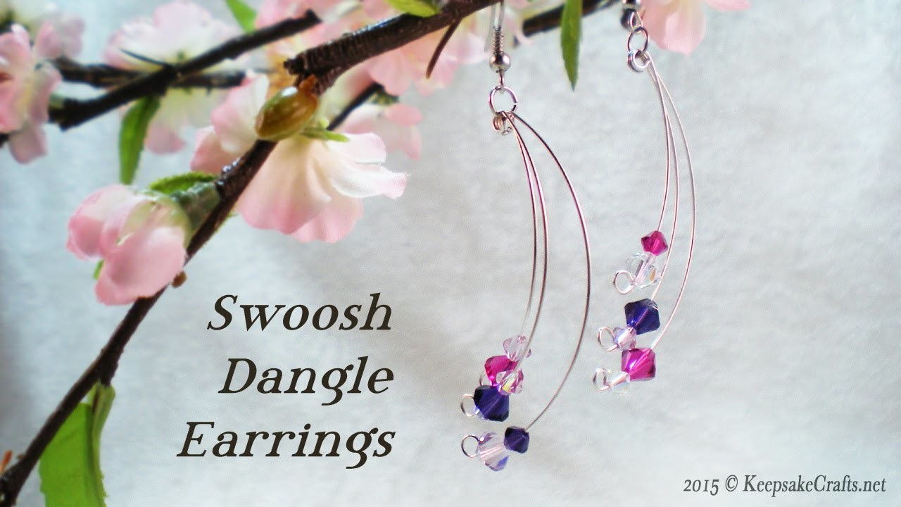 Swoosh Dangle Earrings Video Tutorial