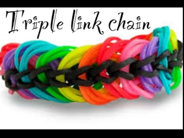 TRIPLE LINK CHAIN bracelet with two forks tutorial.