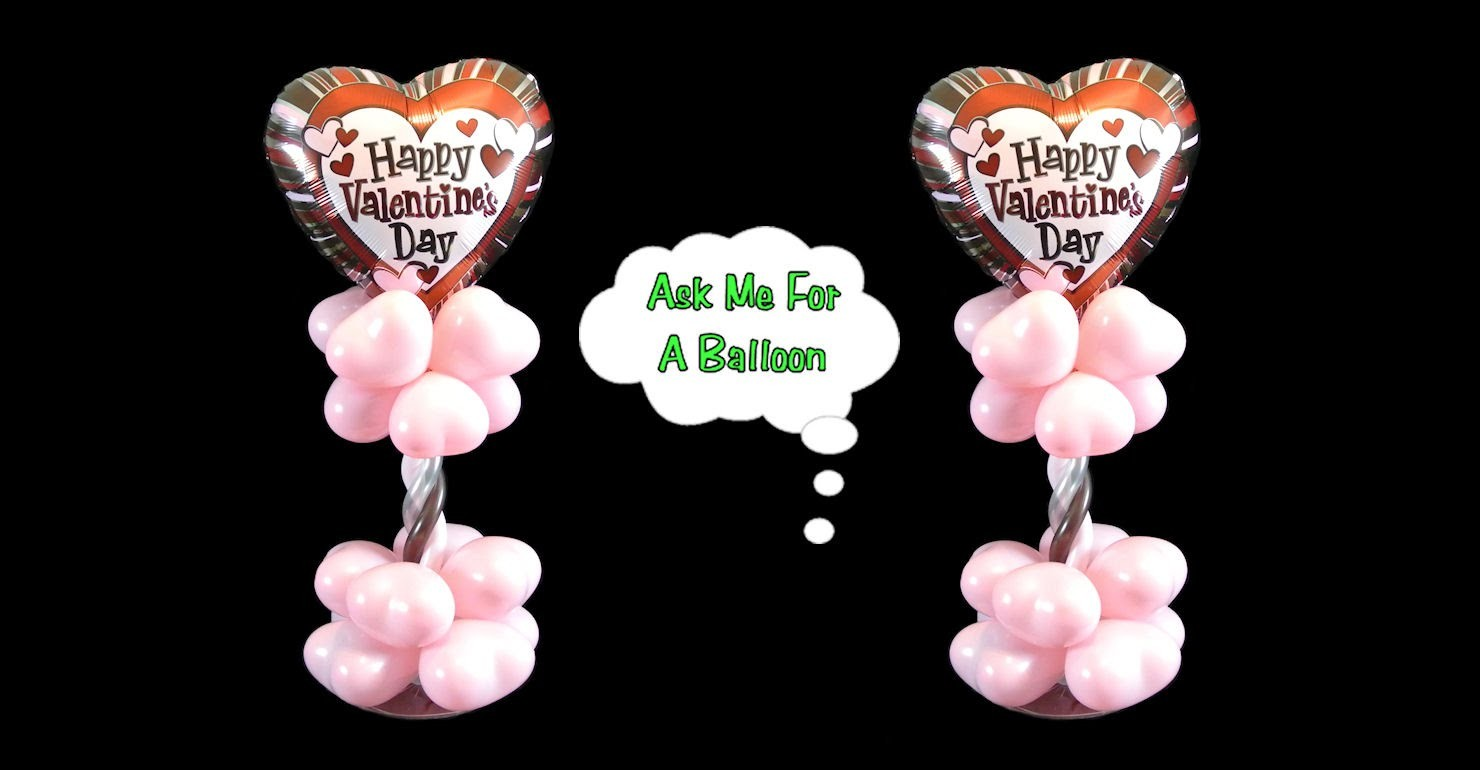 Valentine's Day Balloon Centerpiece - Balloon Decoration Tutorial