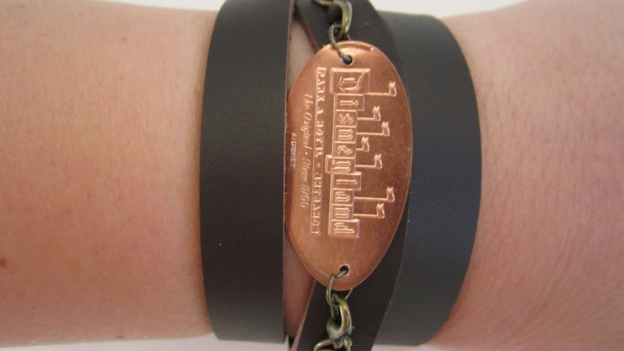 Create a Cool Leather Pressed Penny Bracelet - DIY Style - Guidecentral