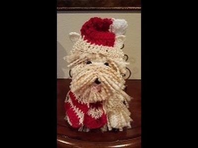 Crochet Westie Amigurumi Dog DIY Tutorial Part 1 of 2.