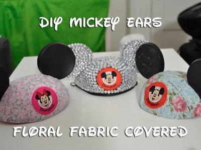 Disney DIY: Floral Fabric Mickey Ears (10.13.14 - Day 43)