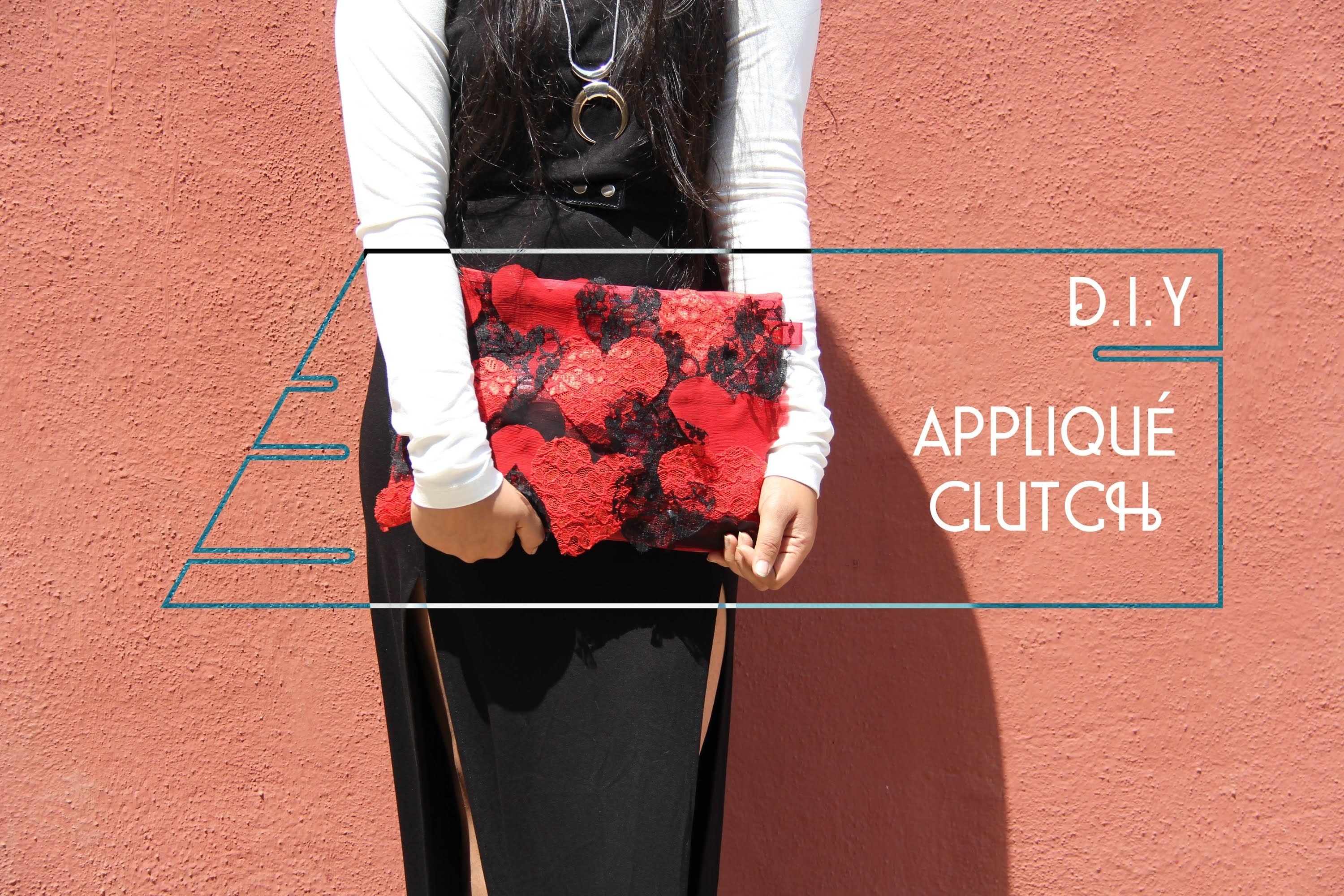 DIY Appliqué Clutch | Head2Heels