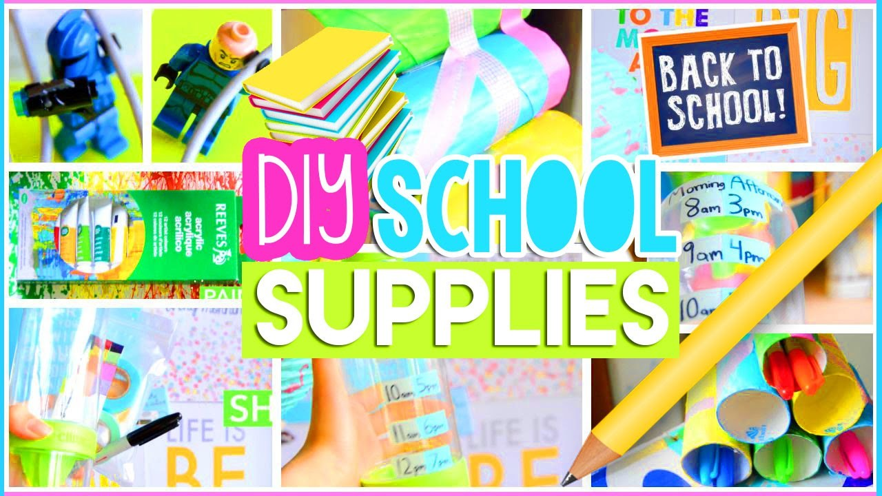 ♡ DIY Back to School Supplies: Room Decor, Organization + Life Hacks! Easy & Cheap | AlohaKatieX ♡