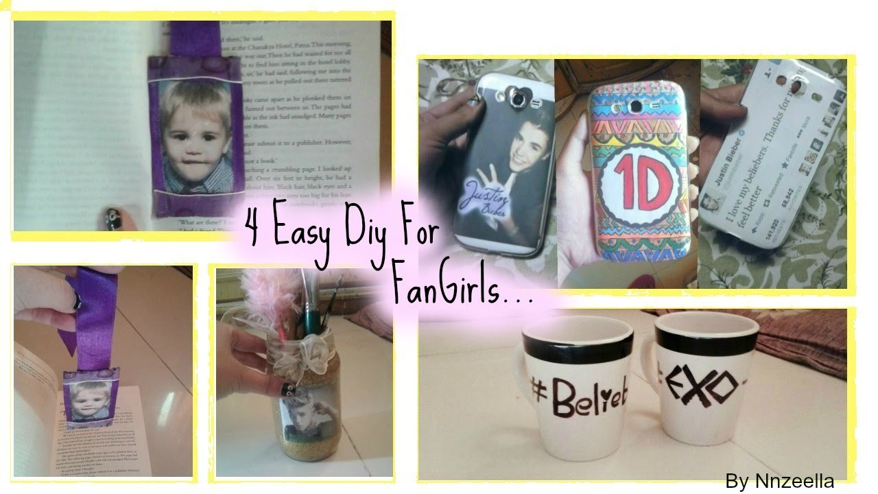 Diy for fan girls (Beliebers, Directioner &Exo-L )