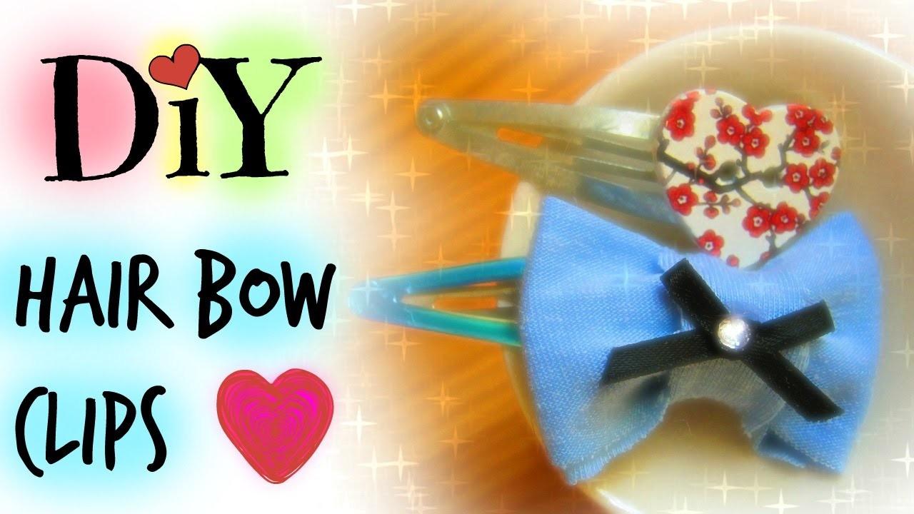 DIY Hair Bow Clips | Rina Knish