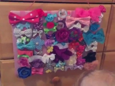 DIY Hair Bow Holder - Super Easy - No Sew Project