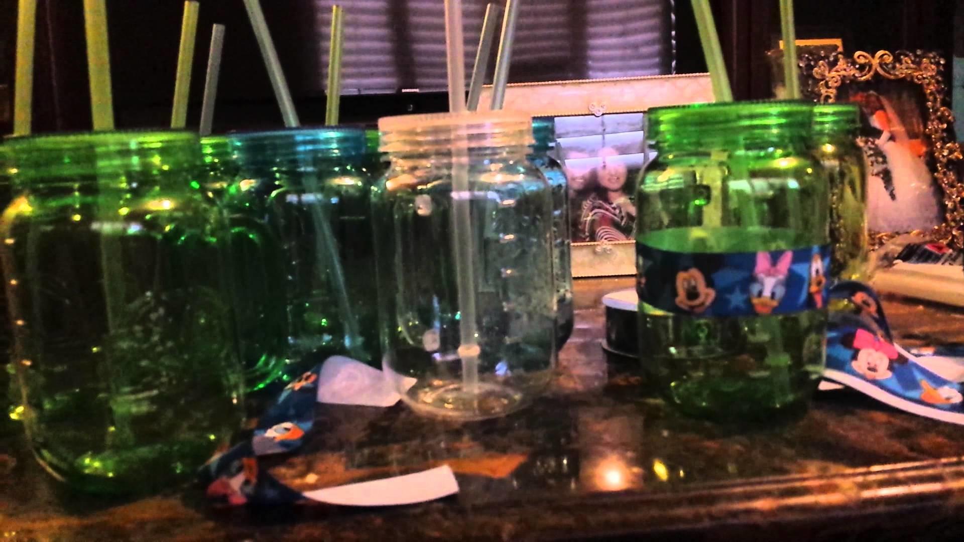 DIY Mickey Mouse Mason Jar