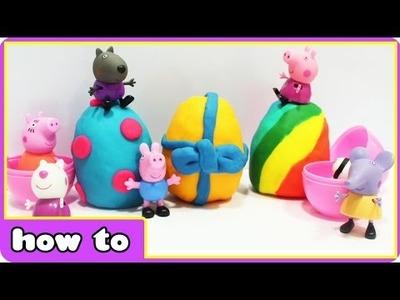 DIY Peppa Pig Play Doh Surprise Eggs | Peppa Pig Toys for Kids