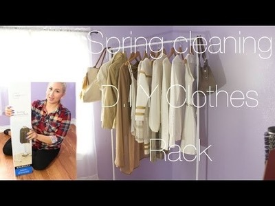 DIY ROOM ORGANIZTION. SPRING CLEANING + MINI CLOSET TOUR