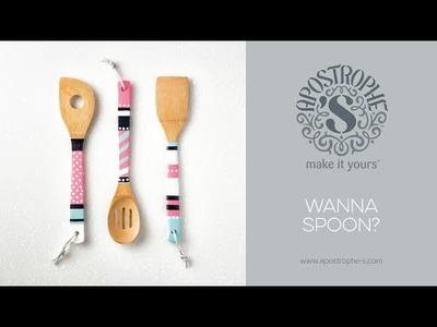 DIY Spoon Decor | Kitchen Craft | Crafts for Girls | Apostrophe S | Wanna Spoon?