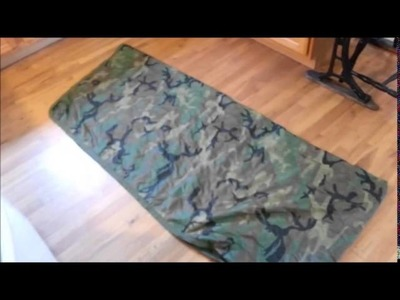 DIY Summer Weight Top Quilt made from a military Poncho Liner