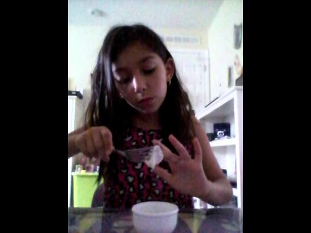 How to make slime with Glu and flower DIY video