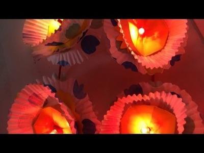 Make Cute Cupcake Liner Flower Lights - DIY Home - Guidecentral