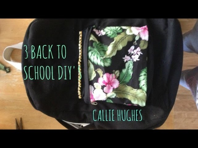 THREE FALL SCHOOL DIY'S