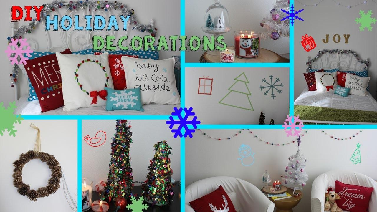 8 DIY Holiday Room Decorations! Easy, Fun & Afordable! (#CRAFTMAS)