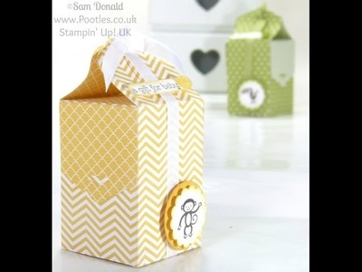 Baby Bag Tutorial using Stampin' Up! Tag Topper Punch