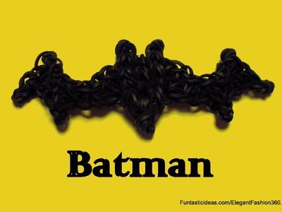 Batman Symbol.Bat Charm - How to Rainbow Loom Design -Logo.Symbol Series