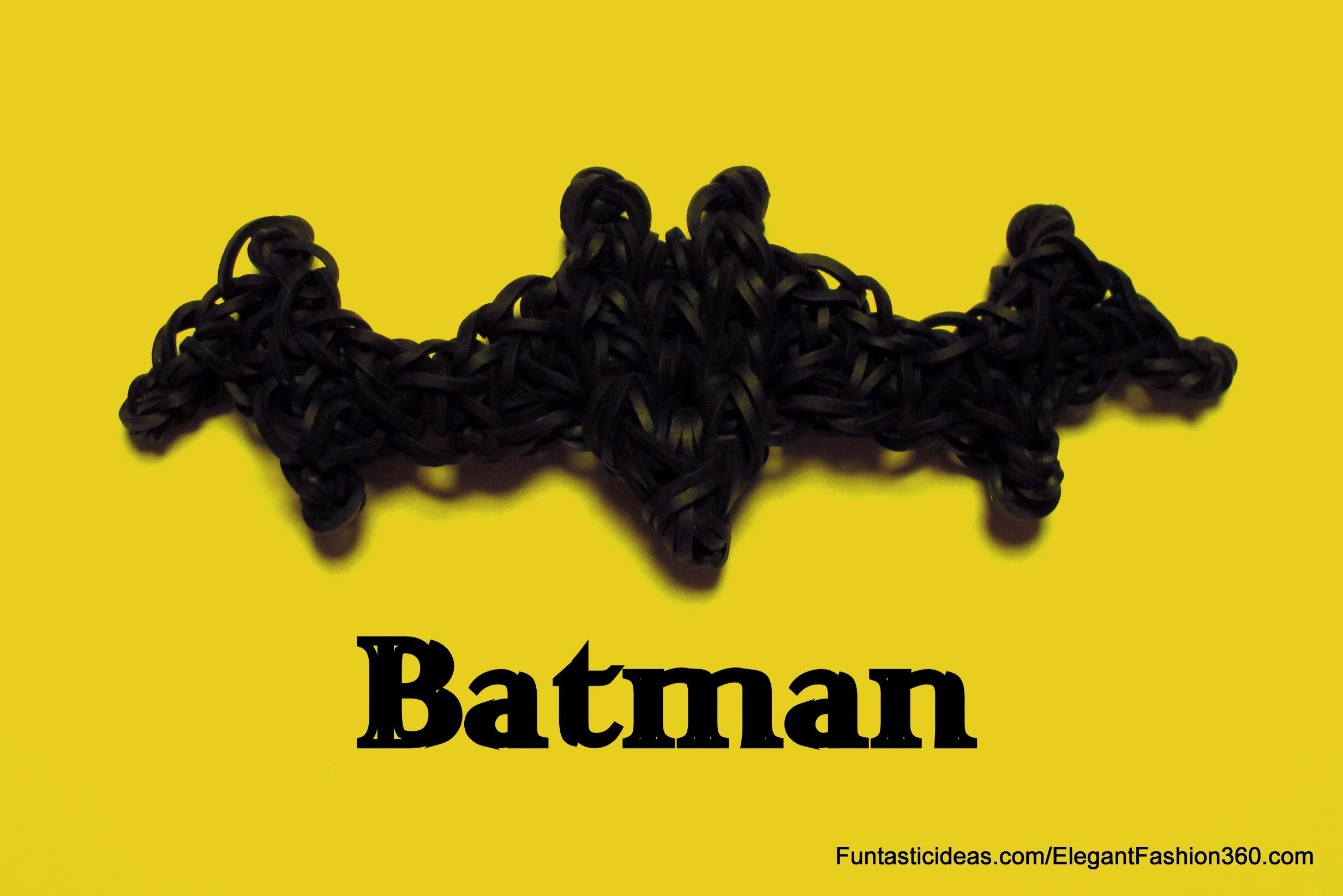Batman Symbol.Bat Charm - How to Rainbow Loom Design -Logo.Symbol Series