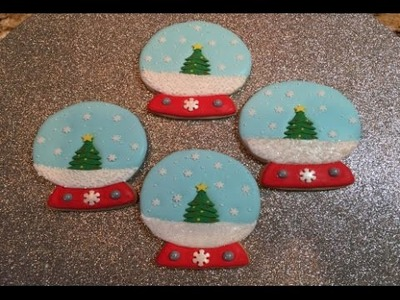 Christmas Tree Snow Globe Cookies (How To)