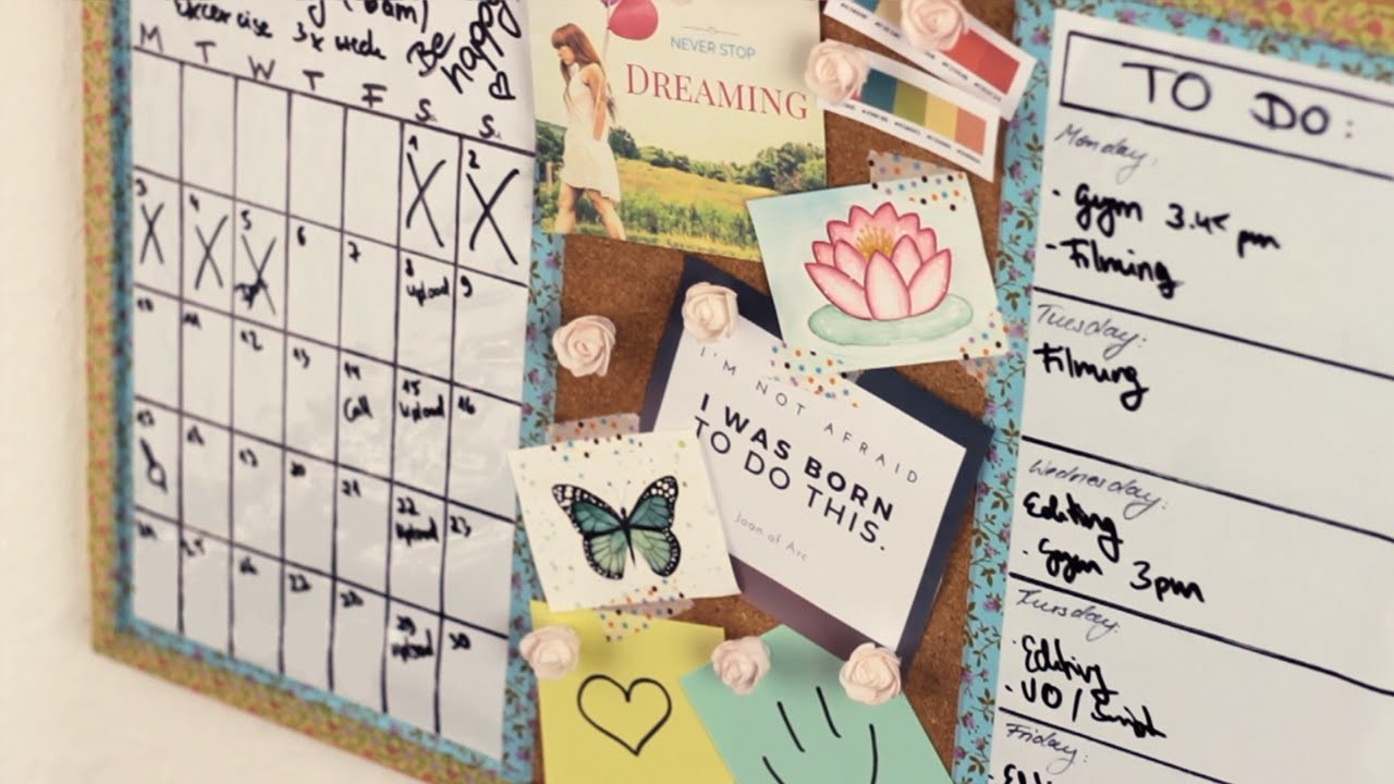 DIY: 3in1 Pinboard: Calendar, Vision Board, To-do List - Back to School
