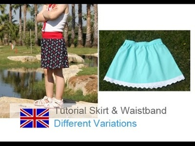 DIY basic tutorial how to sew a skirt and an elastic waistband