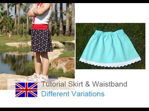 DIY basic tutorial how to sew a skirt and an elastic waistband
