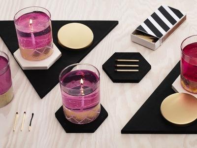 DIY by Panduro: Cast gel candles