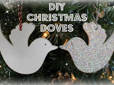 DIY Christmas Doves   Christmas Decorations   Jtru