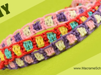 DIY Easy Friendship Bracelets using Square Knot
