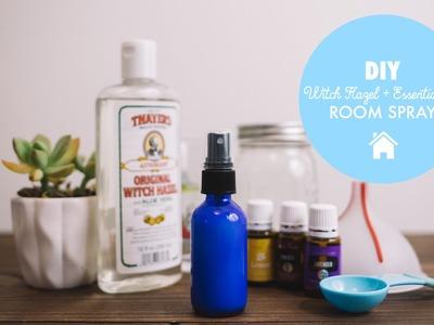 DIY Essential Oil & Witch Hazel Room Spray