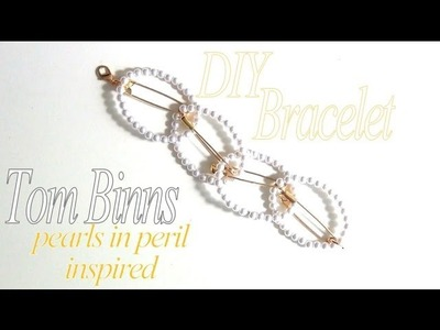 DIY Fashion ♥ Tom Binns Pearls In Peril Inspired Safety Pin and Pearl Bracelet