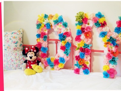 DIY Flower Letters from the DOLLAR STORE!