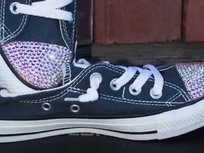 DIY How to bling Converse shoes sneakers with Swarovski Crystal rhinestones
