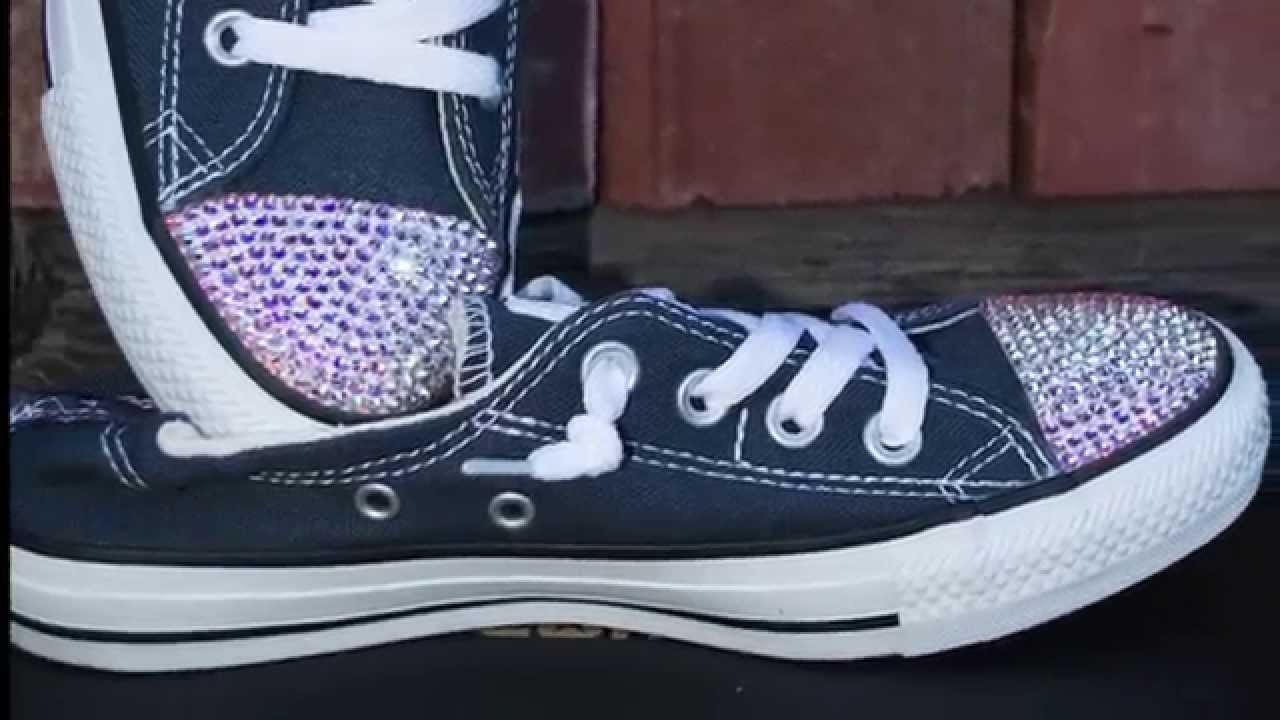 0ed0996fadb9 DIY How to bling Converse shoes sneakers with Swarovski Crystal rhinestones