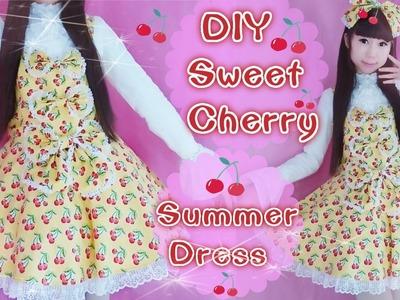 DIY Juicy Cherry Summer Lolita Dress + Sew Lining On a Bodice