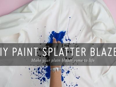 DIY Paint Splatter Blazer   Tutorial   Fashion   Mr Kate